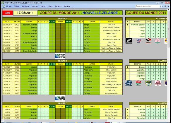 Tableau calendrier 2016 kalender hd - Calendrier rugby 2015 coupe du monde ...